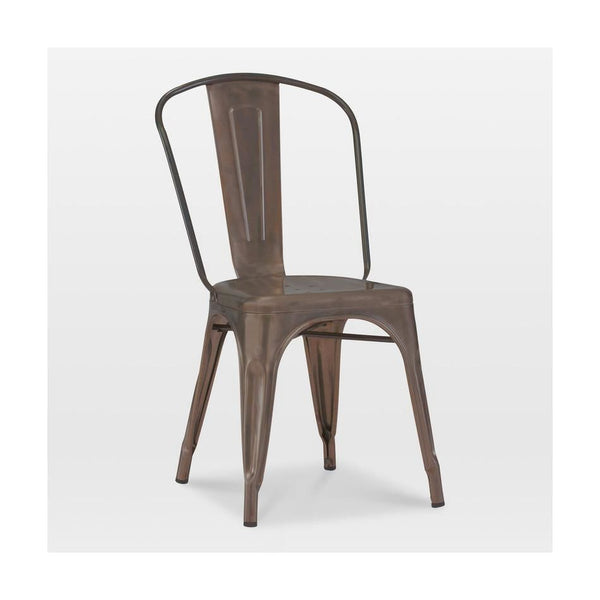 Sundsvall Stackable Rustic Matte Steel Side Chair (Set Of 4) Dining
