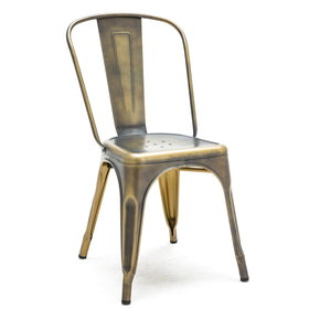 Dining Chairs - Design Lab MN LS-9000-VBRA Sundsvall Stackable Vintage Brass Steel Side Chair (Set of 4) | 640746589300 | Only $319.80. Buy today at http://www.contemporaryfurniturewarehouse.com