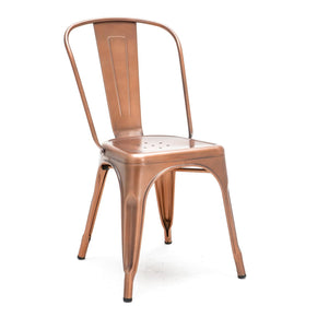 Dining Chairs - Design Lab MN LS-9000-VCOP Sundsvall Stackable Vintage Copper Steel Side Chair (Set of 4) | 640746589317 | Only $319.80. Buy today at http://www.contemporaryfurniturewarehouse.com