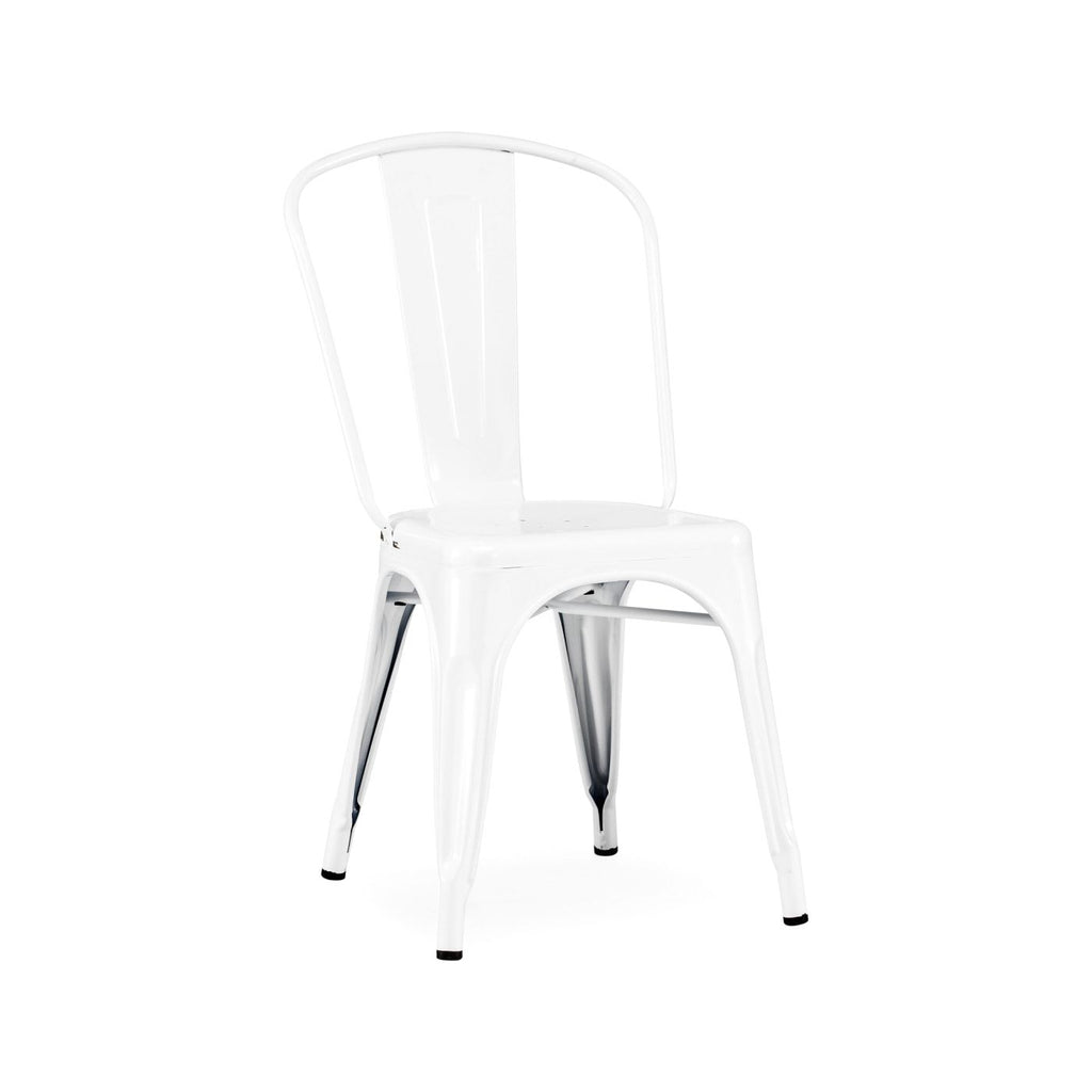 Sundsvall Stackable Glossy White Steel Side Chair (Set Of 4) Dining