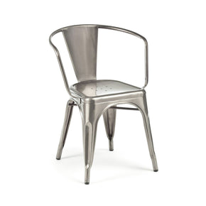 Sundsvall Clear Gunmetal Stackable Steel Dining Chair (Set Of 4)