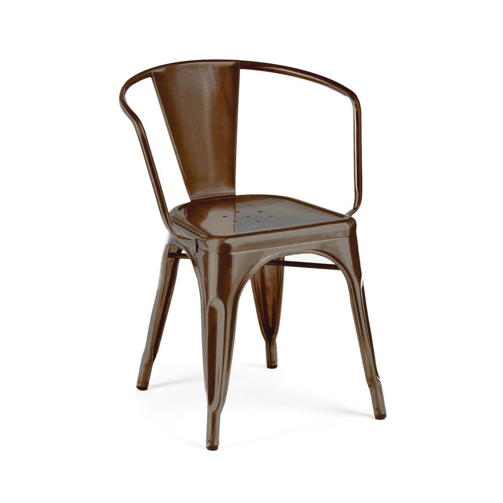 Sundsvall Rustic Matte Stackable Steel Dining Chair (Set Of 4)