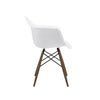 Trige White Arm Chair With Walnut Wood Base (Set Of 2) Dining
