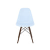 Trige Baby Blue Side Chair With Walnut Wood Base (Set Of 5) Dining