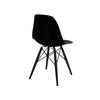 Trige Black Side Chair With Wood Base (Set Of 5) Dining