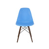 Trige Blue Side Chair With Walnut Wood Base (Set Of 5) Dining