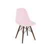Trige Baby Pink Side Chair With Walnut Wood Base (Set Of 5) Dining