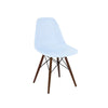 Trige Baby Blue Side Chair with Walnut Wood Base (Set of 2)
