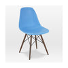 Trige Blue Side Chair With Walnut Wood Base (Set Of 2) Dining