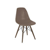 Trige Brown Side Chair With Walnut Wood Base (Set Of 2) Dining