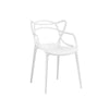 Masters Polypropylene White Modern Stackable Arm Chair (Set of 4)