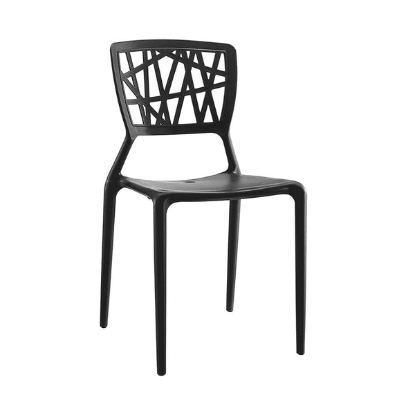 Vocci Black Modern Stackable Side Chair (Set Of 4) Dining