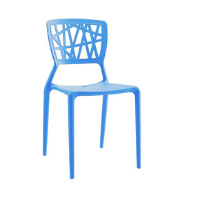 Vocci Blue Modern Stackable Side Chair (Set Of 4) Dining