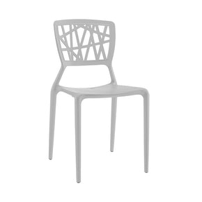 Vocci Platinum Modern Stackable Side Chair (Set Of 4) Dining