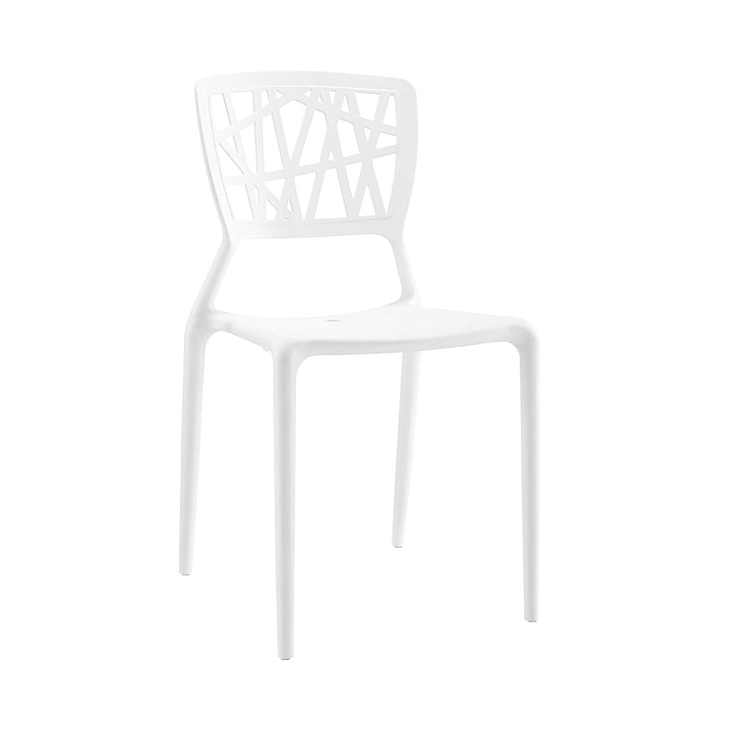 Vocci White Modern Stackable Side Chair (Set Of 4) Dining