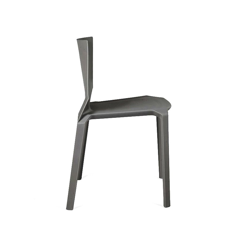 Vector Dark Grey Modern Stackable Side Chair (Set of 4) by Design ...