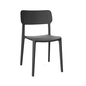 Viro Black Grey Modern Stackable Side Chair (Set Of 4) Dining
