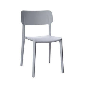 Viro Grey Modern Stackable Side Chair (Set Of 4) Dining