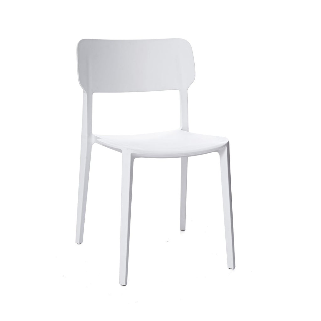 Astounding Viro White Modern Stackable Side Chair Set Of 4 Gmtry Best Dining Table And Chair Ideas Images Gmtryco
