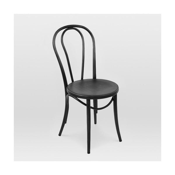 Dining Chairs - Design Lab MN LS-9902-BLK Belmont Black Retro Bentwood Steel Side Chair (Set of 2) | 637262593997 | Only $179.80. Buy today at http://www.contemporaryfurniturewarehouse.com