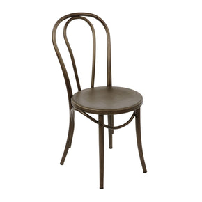 Belmont Rustic Matte Retro Bentwood Steel Side Chair (Set Of 2) Dining