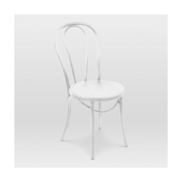 Belmont White Retro Bentwood Steel Side Chair (Set Of 2) Dining