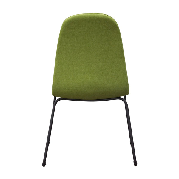 Magnificent Buy Diamond Sofa Finndcgn2Pk Set Of 2 Finn Dining Chairs In Green Fabric With Metal Leg At Contemporary Furniture Warehouse Ibusinesslaw Wood Chair Design Ideas Ibusinesslaworg