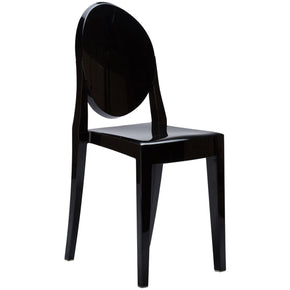Dining Chairs - EdgeMod EM-102-BLK-X2 Burton Ghost Side Chair In Black (Set of 2) | 641061720485 | Only $174.80. Buy today at http://www.contemporaryfurniturewarehouse.com
