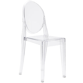 Dining Chairs - EdgeMod EM-102-CLR-X2 Burton Ghost Side Chair In Clear (Set of 2) | 616806868531 | Only $174.80. Buy today at http://www.contemporaryfurniturewarehouse.com