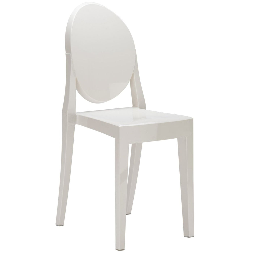 Dining Chairs - EdgeMod EM-102-WHI-X2 Burton Ghost Side Chair In White (Set of 2) | 641061720492 | Only $174.80. Buy today at http://www.contemporaryfurniturewarehouse.com