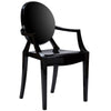 Dining Chairs - EdgeMod EM-103-BLK-X2 Burton Ghost Arm Chair In Black (Set of 2) | 641061724452 | Only $184.80. Buy today at http://www.contemporaryfurniturewarehouse.com