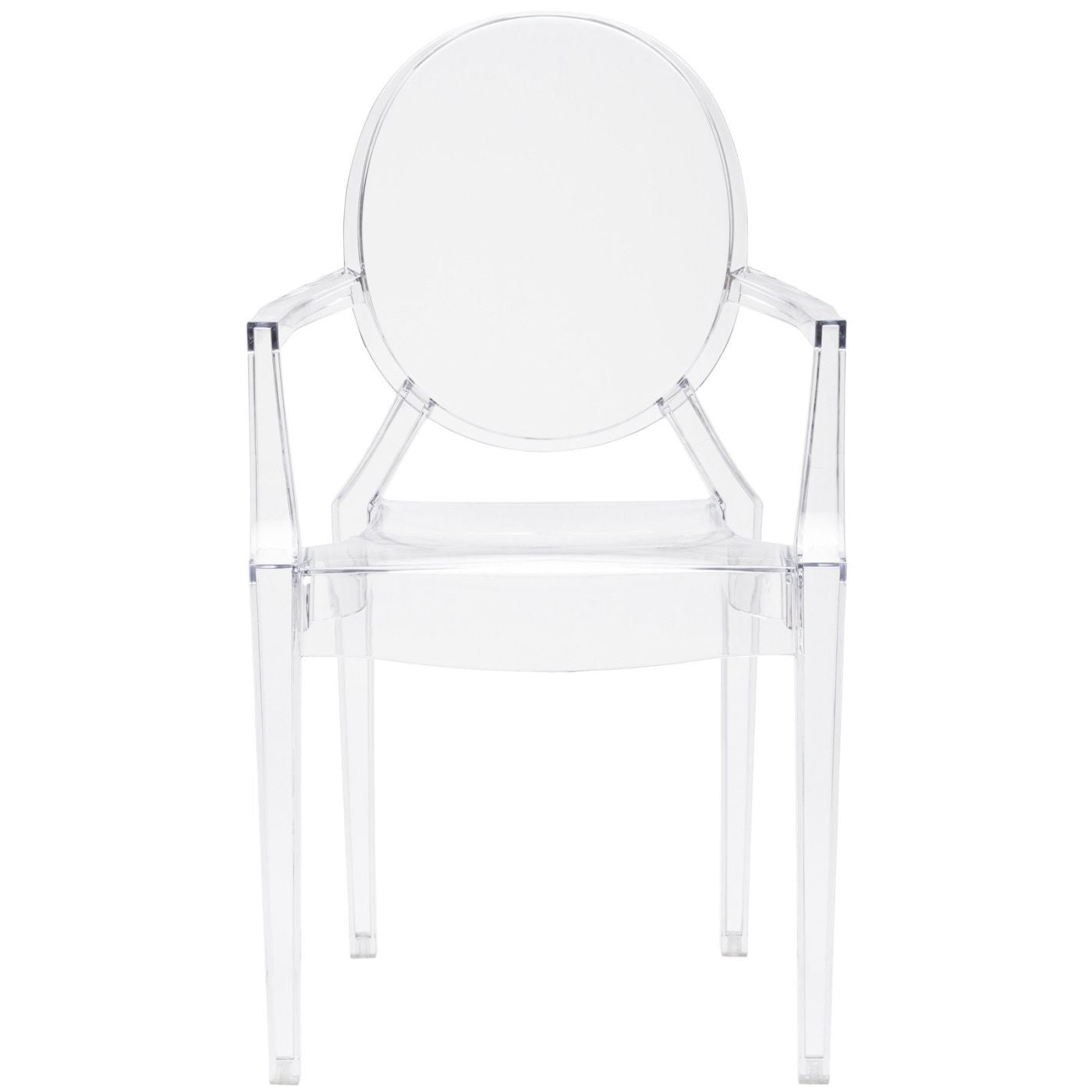 Burton Ghost Arm Chair In Clear (Set Of 2) Dining ...