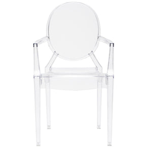 Dining Chairs - EdgeMod EM-103-CLR-X2 Burton Ghost Arm Chair In Clear (Set of 2) | 616806868470 | Only $184.80. Buy today at http://www.contemporaryfurniturewarehouse.com