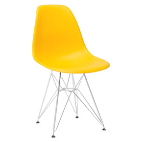 Dining Chairs - EdgeMod EM-104-CRM-YEL Padget Side Chair in Yellow | 641061724766 | Only $69.80. Buy today at http://www.contemporaryfurniturewarehouse.com