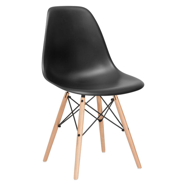 Dining Chairs - EdgeMod EM-105-NAT-BLK Vortex Side Chair in Black | 616806869064 | Only $71.30. Buy today at http://www.contemporaryfurniturewarehouse.com