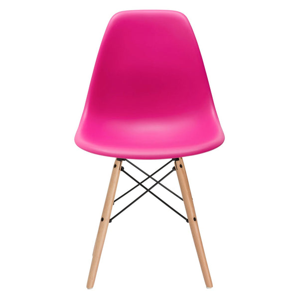 Dining Chairs - EdgeMod EM-105-NAT-FUS Vortex Side Chair in Fuchsia | 641061724742 | Only $71.30. Buy today at http://www.contemporaryfurniturewarehouse.com