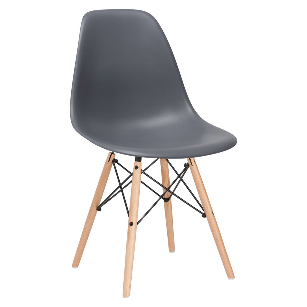 Dining Chairs - EdgeMod EM-105-NAT-GRY Vortex Side Chair in Grey | 616806869101 | Only $71.30. Buy today at http://www.contemporaryfurniturewarehouse.com