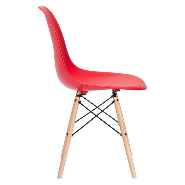 Vortex Side Chair In Red Dining
