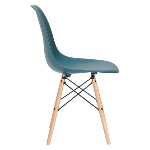 EdgeMod EM-105-NAT-TEA Vortex Side Chair in Teal | 641061721192 | $71.30. Dining Chairs. Buy today at http://www.contemporaryfurniturewarehouse.com