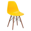 Vortex Side Chair Walnut Legs In Yellow Dining