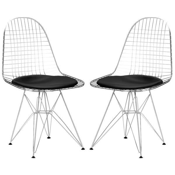 Dining Chairs - EdgeMod EM-107-BLK-X2 Hamlet Side Chair in Black (Set of 2) | 616806868715 | Only $218.80. Buy today at http://www.contemporaryfurniturewarehouse.com
