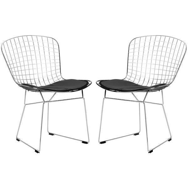 Dining Chairs - EdgeMod EM-108-BLK-X2 Morph Side Chair in Black (Set of 2) | 641061720454 | Only $241.50. Buy today at http://www.contemporaryfurniturewarehouse.com
