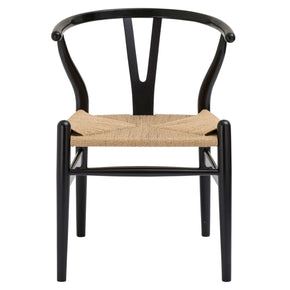 Weave Mid-Century Chair In Black (Set Of 2) Dining