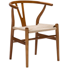 Weave Mid-Century Chair In Walnut (Set Of 2) Dining