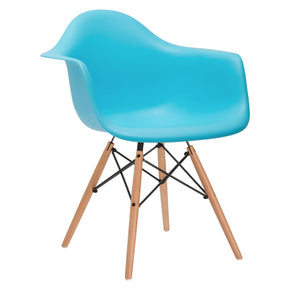 Dining Chairs - EdgeMod EM-110-NAT-AQU Vortex Arm Chair in Aqua | 616806869132 | Only $83.60. Buy today at http://www.contemporaryfurniturewarehouse.com