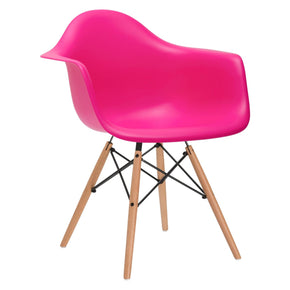 EdgeMod Vortex Arm Chair in Fuschia EM-110-NAT-FUS | 641061721635| $83.60. Dining Chairs - . Buy today at http://www.contemporaryfurniturewarehouse.com