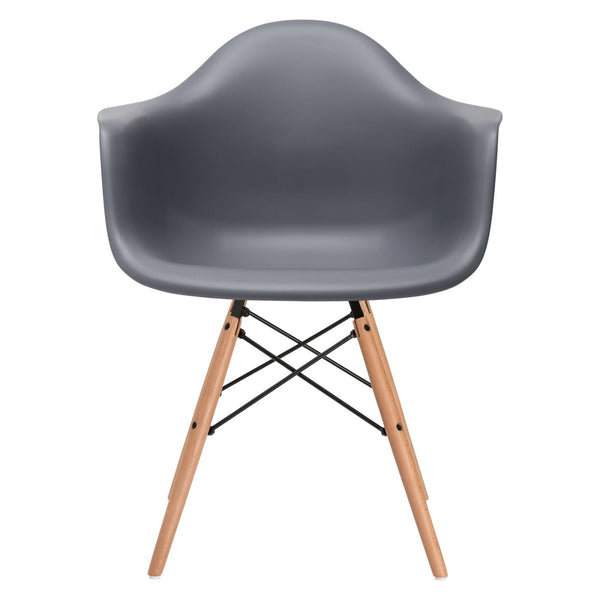 Dining Chairs - EdgeMod EM-110-NAT-GRY Vortex Arm Chair in Grey | 616806869163 | Only $83.60. Buy today at http://www.contemporaryfurniturewarehouse.com