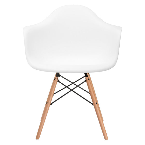 Vortex Arm Chair In White Dining