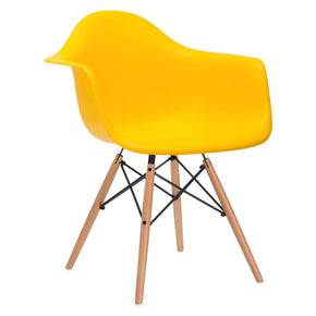 Vortex Arm Chair In Yellow Dining