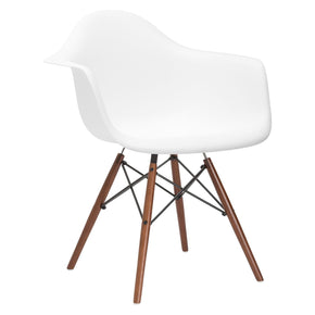 Vortex Arm Chair Walnut Leg In White Dining
